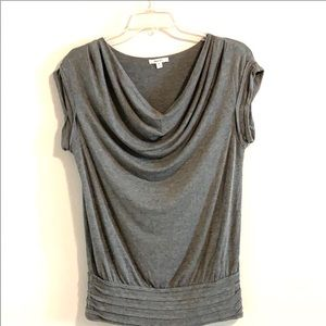 Sophie Max Gray Cowl Neck Tunic Top